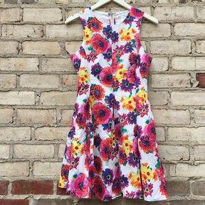 Esley ModCloth Spring Floral Fit & Flare Dress Sm